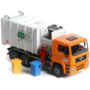 Man Side loading Garbage Truck