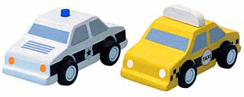 Plan City - City Taxi and Police Car