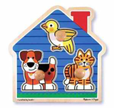 House Pets Jumbo Knob 3pc Wooden Puzzle