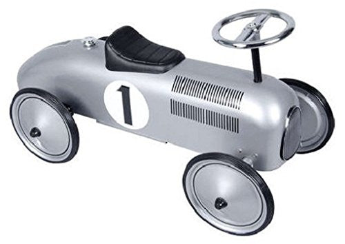 Silver Race Car Metal Speedster
