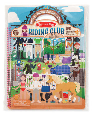 Deluxe Puffy Sticker Album - Horse Scenes