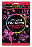 Princess Pink Glitter Scratch Art Boards