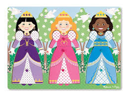 DRESS-UP PRINCESSES PEG PUZZLE