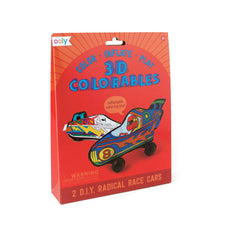 3D Colorables Radical Race Cars
