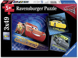 Cars 3 3 x 49 pc Puzzles