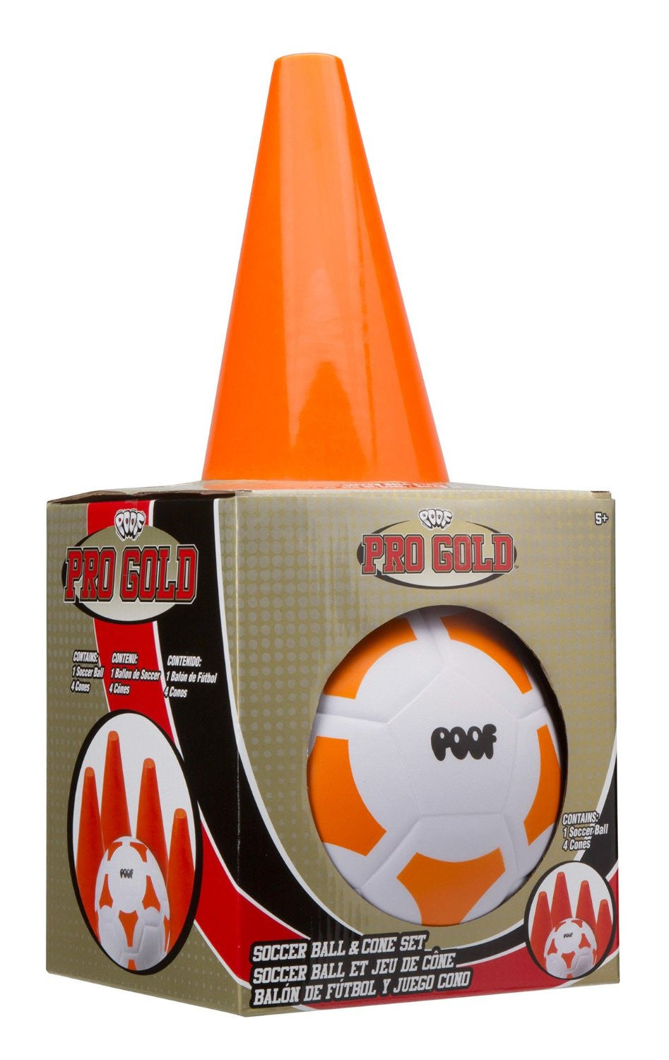 Soccer Ball & Cone Set Pro Gold