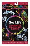 Sea Life Scratch Art