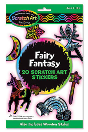 Fairy Fantasy Scratch Art Stickers