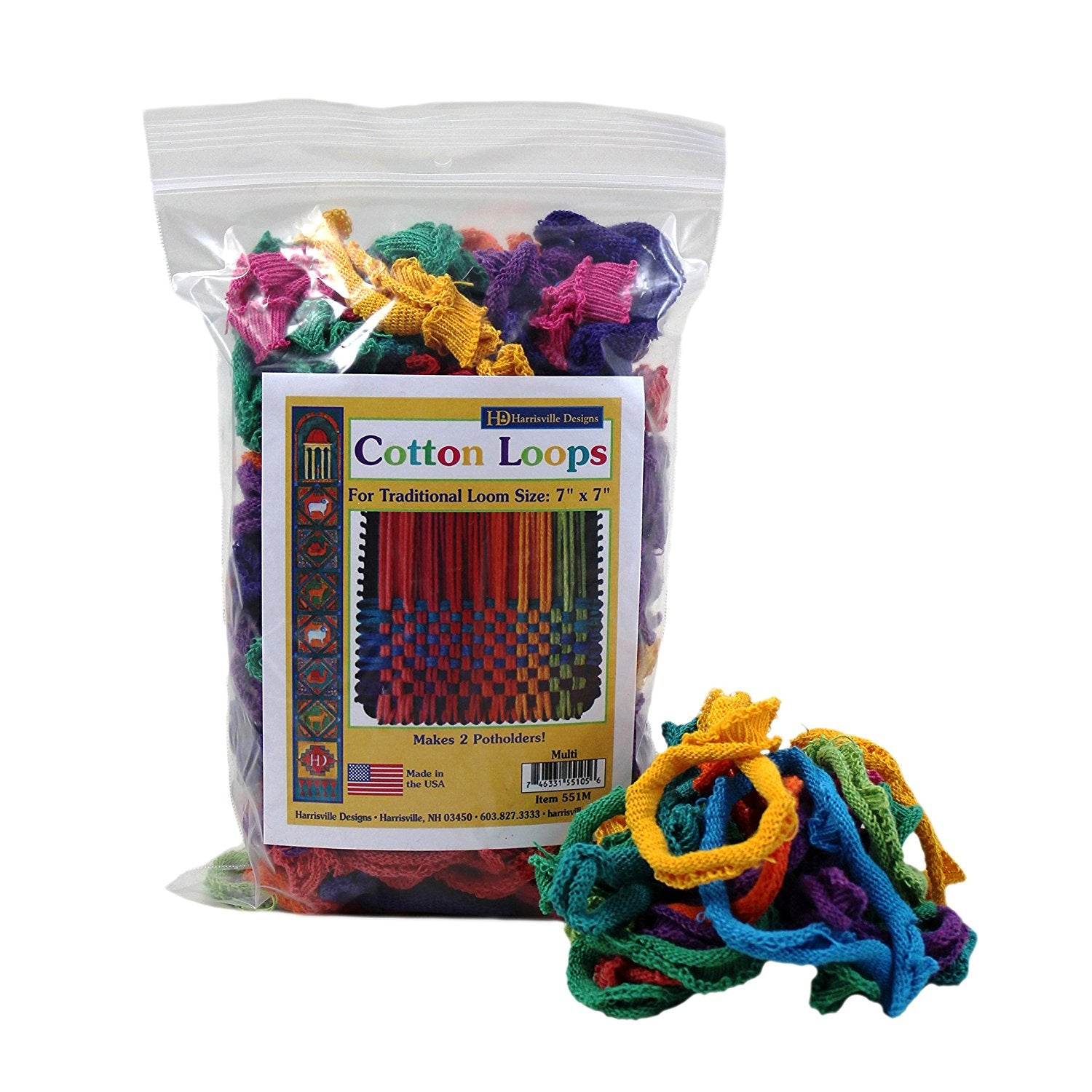 Potholder Cotton Loops - MULTI