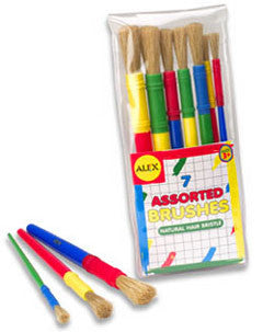 Paint Brushes, Assorted (7)