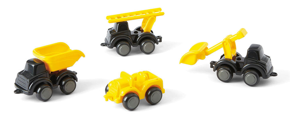 "4"" Construction Vehicles in a Display"