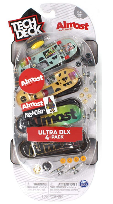 Tech Deck Almost Skateboards Ultra DLX Fingerboard 4 Pack
