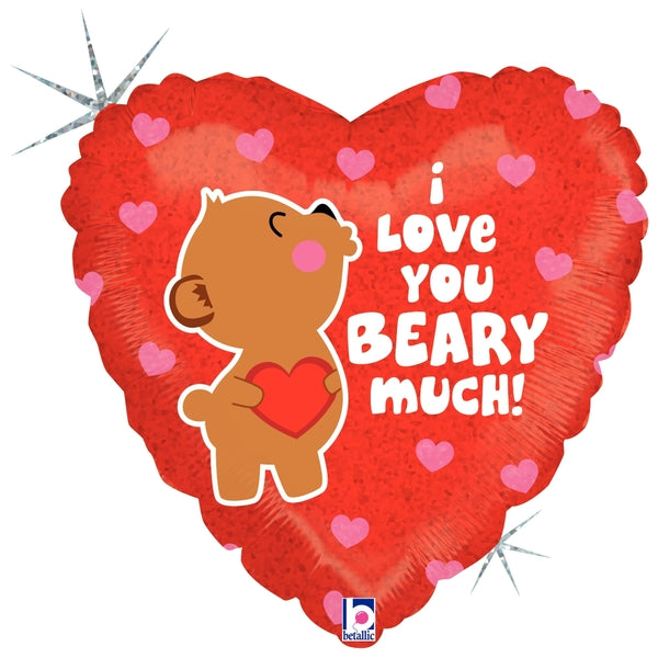 "I Love you Beary Much 18"" Mylar"