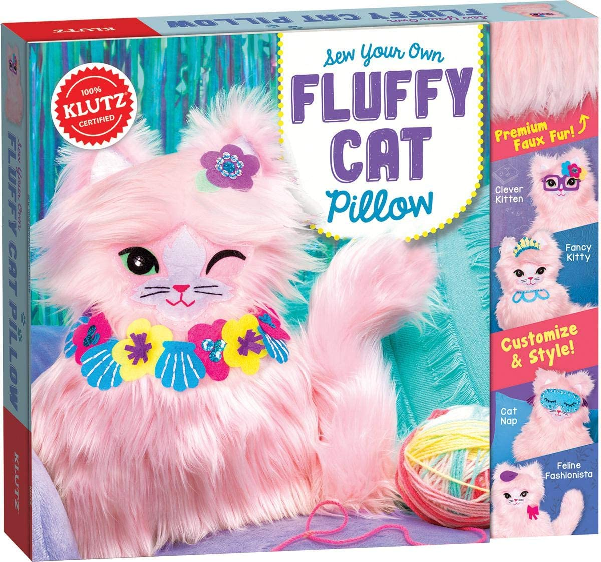 Fluffy Cat Pillow Sew Your Own