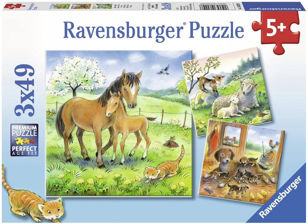 Cuddle Time 3 x 49 pc puzzles