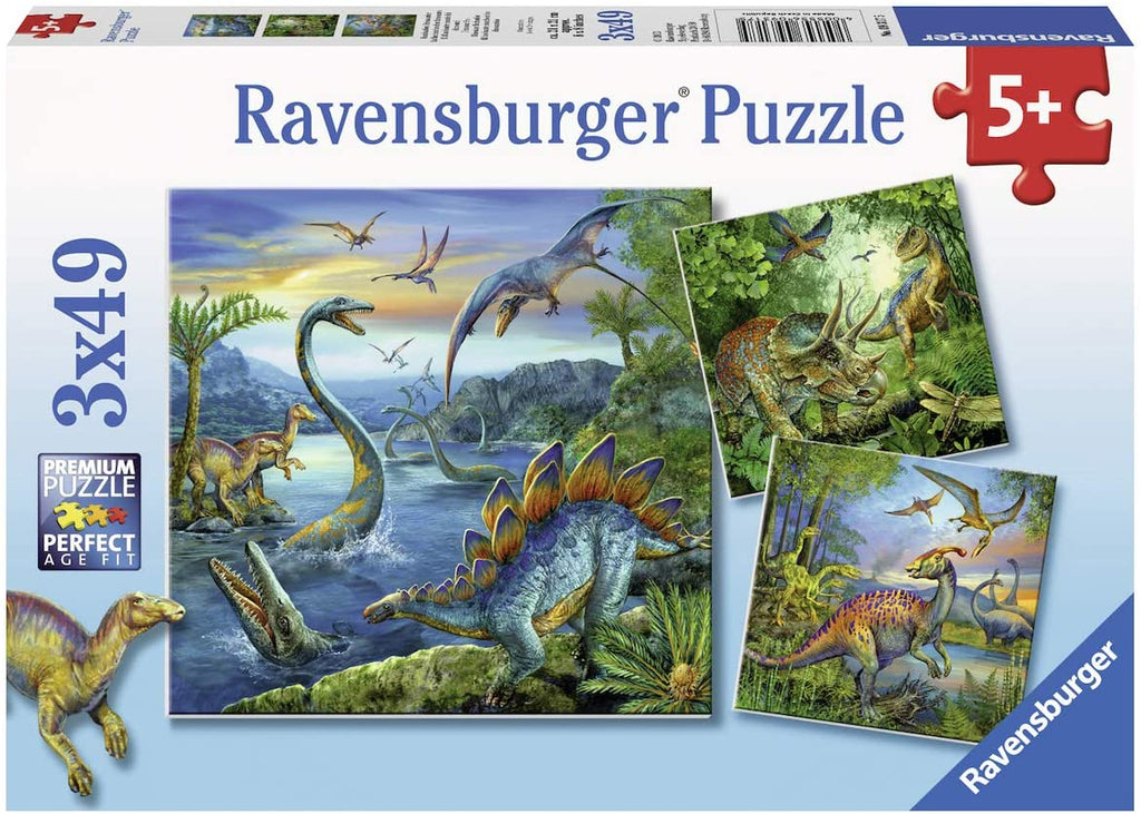 Dinossaur Fascination 3 x 49 pc Puzzles