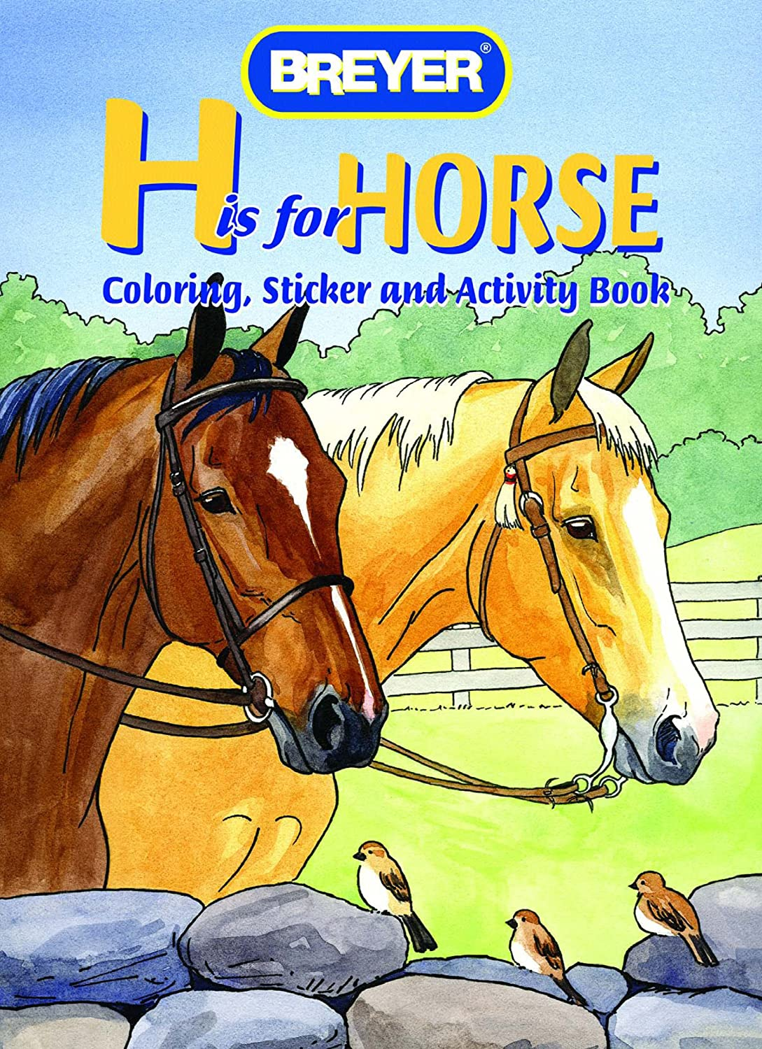Breyer H is for Horse Coloring Book with Stickers