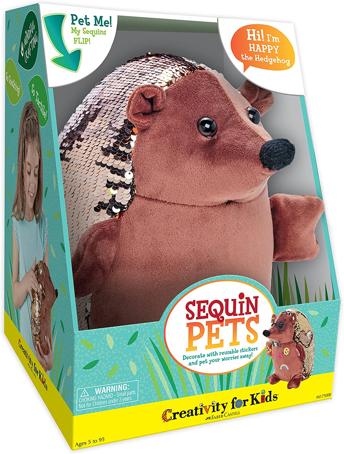 Sequin Pets: Happy the Hedgehog