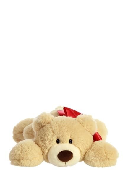 (Tan) Hugga-Wug Bow Bear 12""