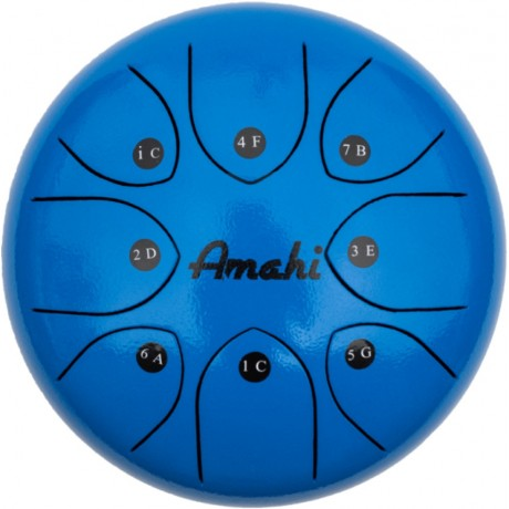 "Steel Tongue Drum - 8"" blue"