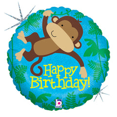 Holographic Monkey Buddy Birthday 18""