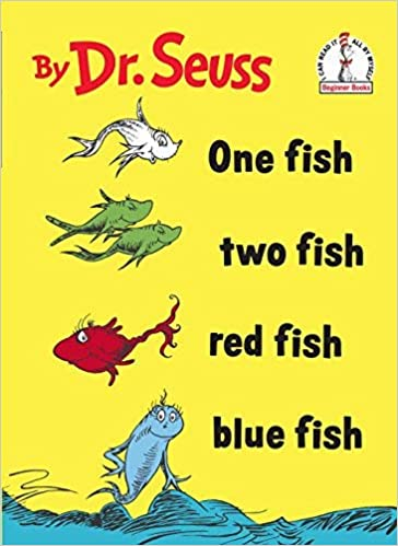 One Fish Two Fish Red Fish Blue Fish Book Book