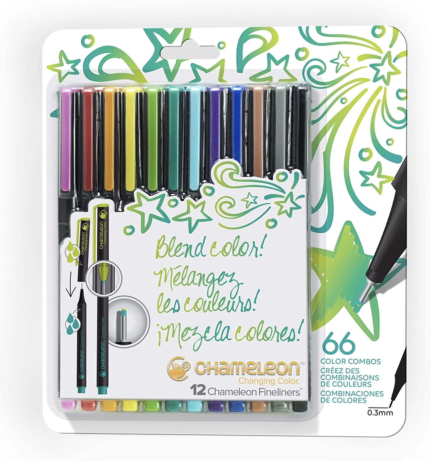 Fineliner 12 Pen Set- Bright Colors