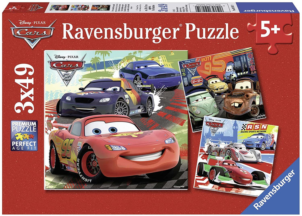 Worldwide Racing Fun 3 x 49 pc Puzzles