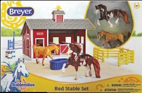Breyer Red Stable Set with Two Horses