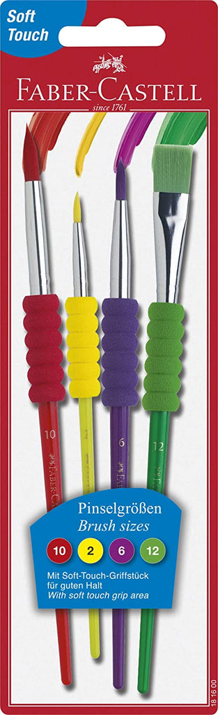 4 Pack Soft Grip Brushes