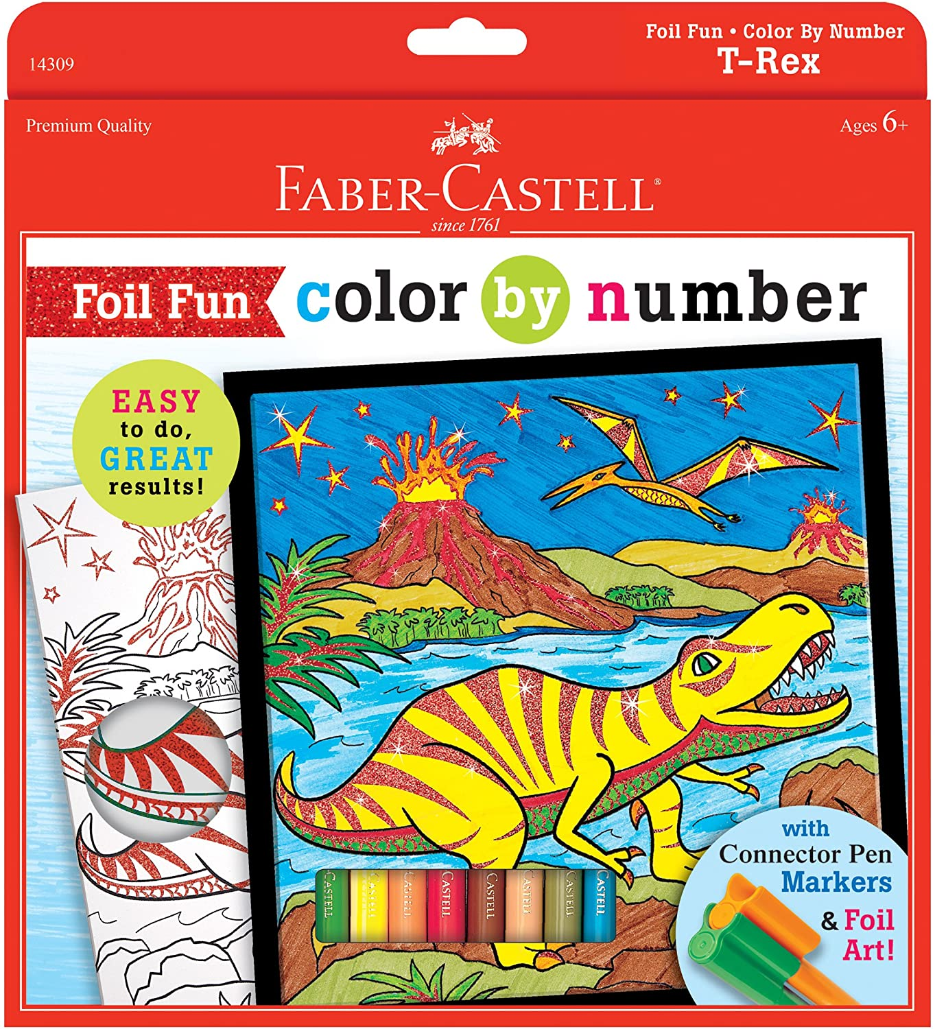 T-Rex Foil Fun Color By Number