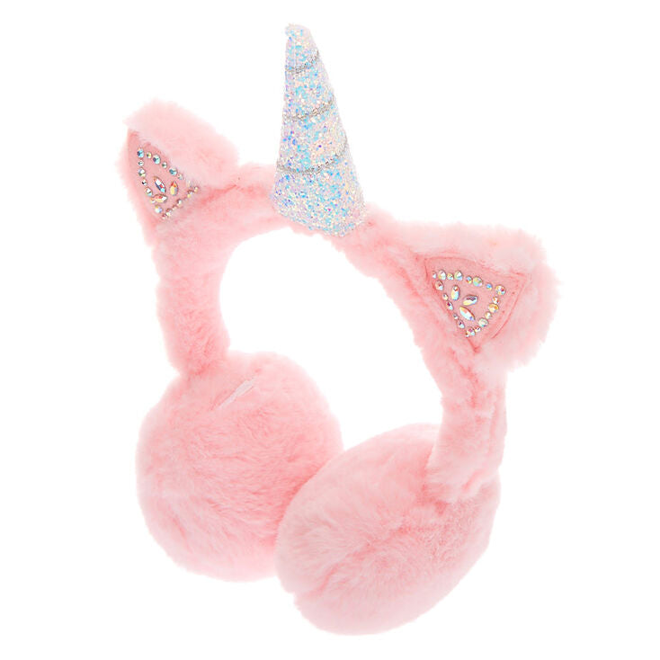 Lt Pink Unicorn Ear Muffs
