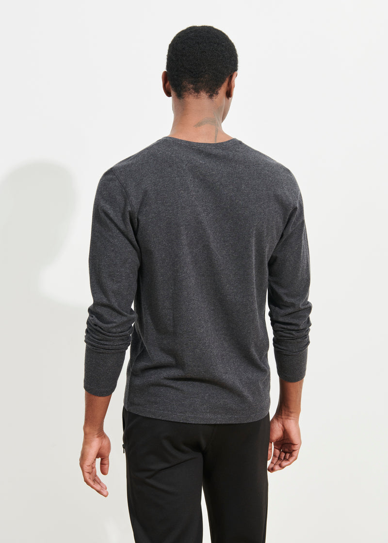 PIMA COTTON STRETCH HENLEY T-SHIRT | PATRICK ASSARAF | Luxury Fashion.