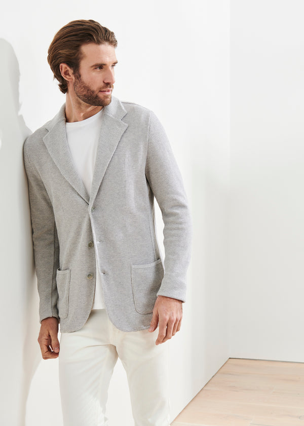 KNIT TEXTURED BLAZER | PATRICK ASSARAF | Luxury Fashion.