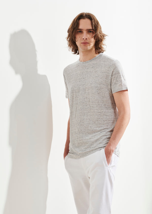 LIGHTWEIGHT LINEN T-SHIRT | PATRICK ASSARAF | Luxury Fashion.