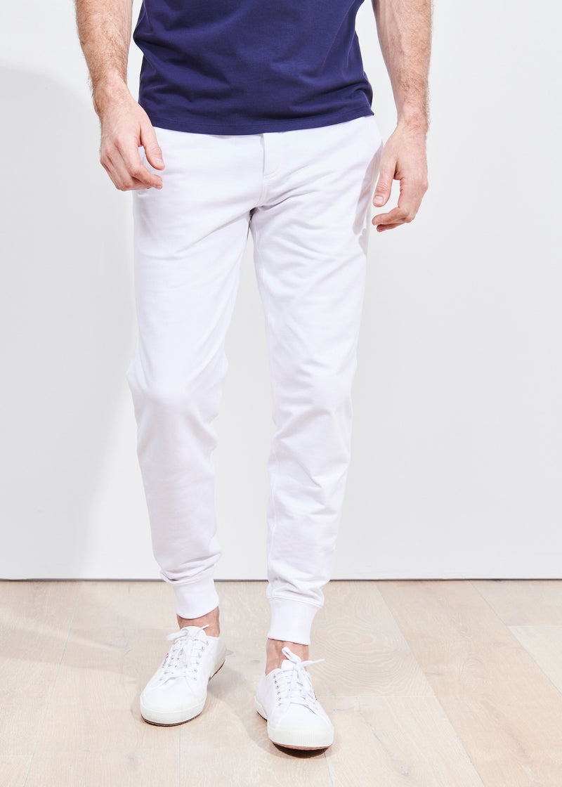 PIMA COTTON FRENCH TERRY JOGGER | PATRICK ASSARAF | Luxury Fashion.