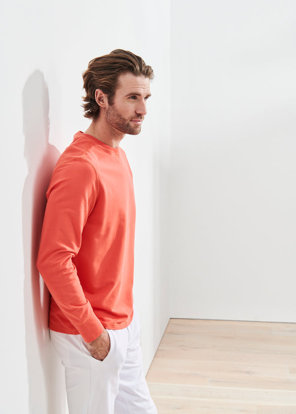 PIMA COTTON FRENCH TERRY SWEATSHIRT | PATRICK ASSARAF | Luxury Fashion.