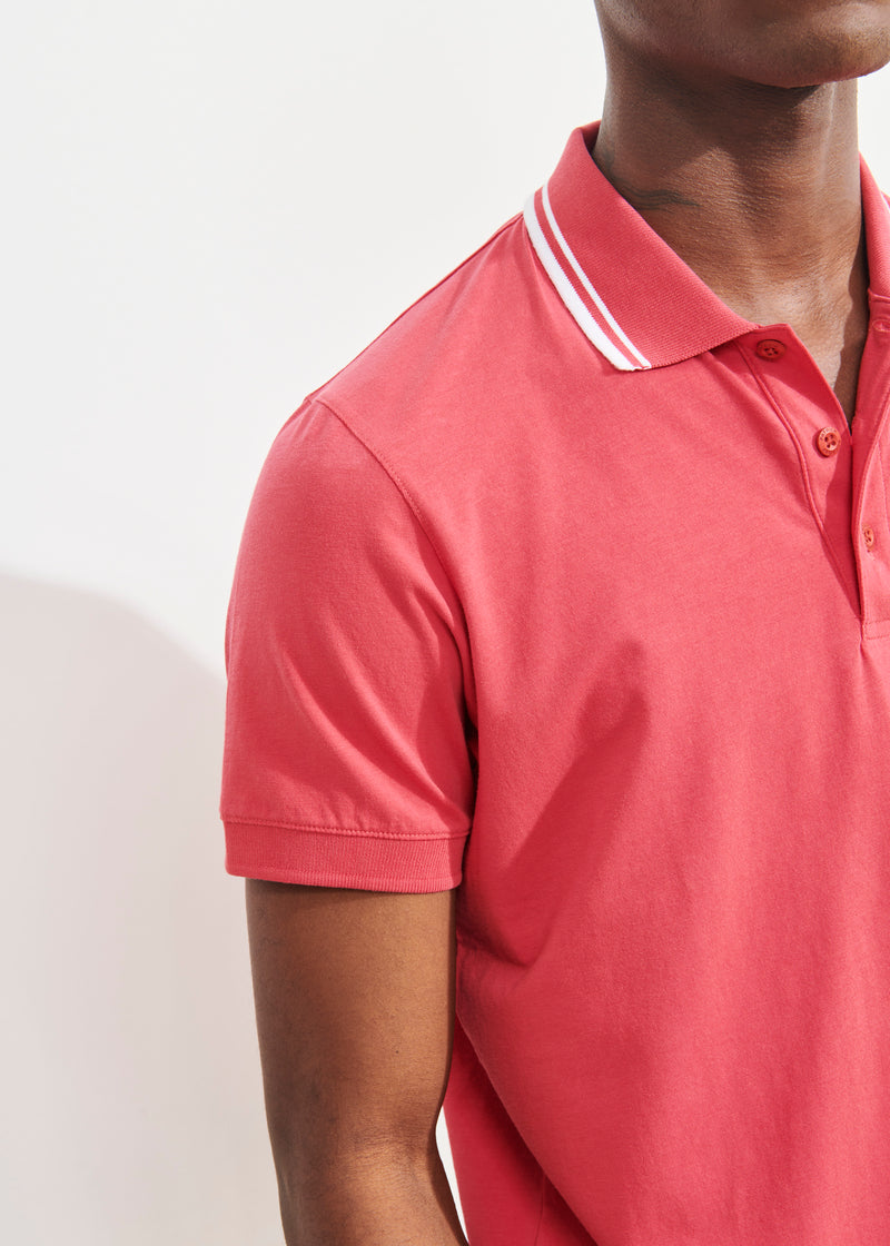 LIGHTWEIGHT PIMA COTTON STRETCH POLO - PATRICK ASSARAF