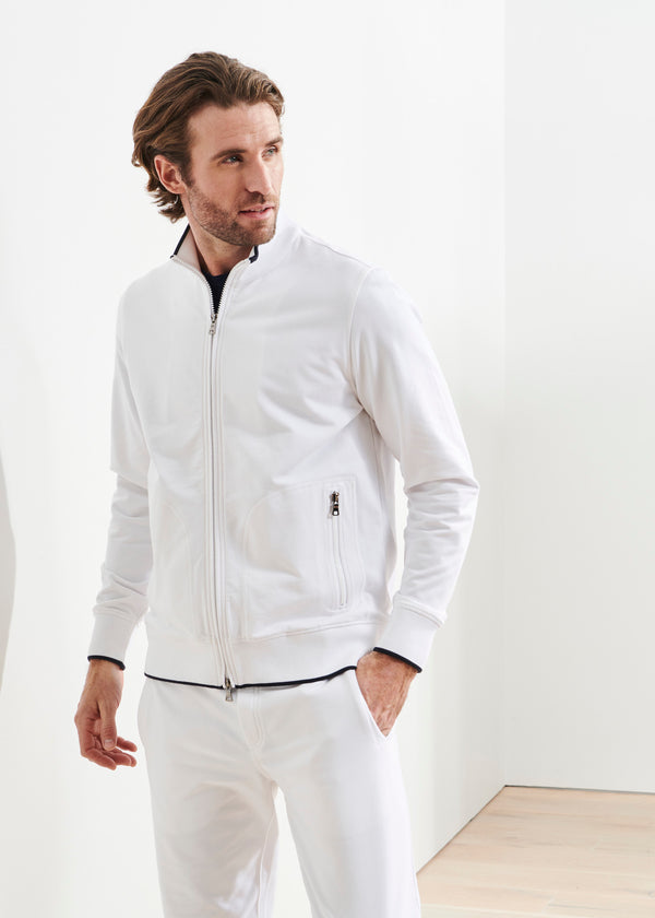 PIMA COTTON FRENCH TERRY TRACK JACKET | PATRICK ASSARAF | Luxury Fashion.