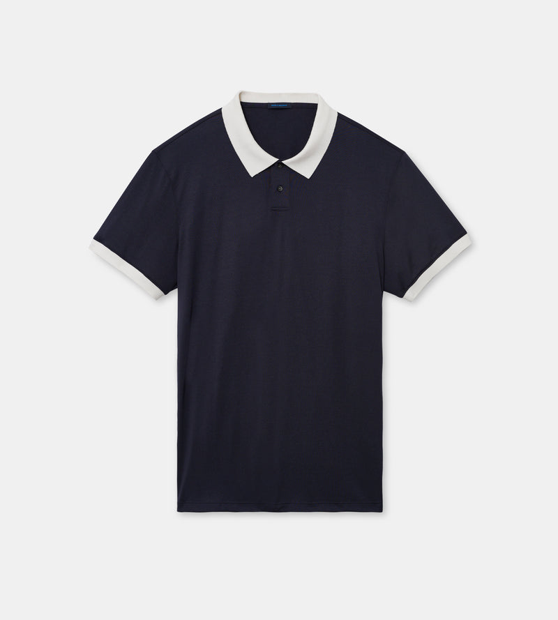MEN'S SILK AND COTTON POLO - PATRICK ASSARAF