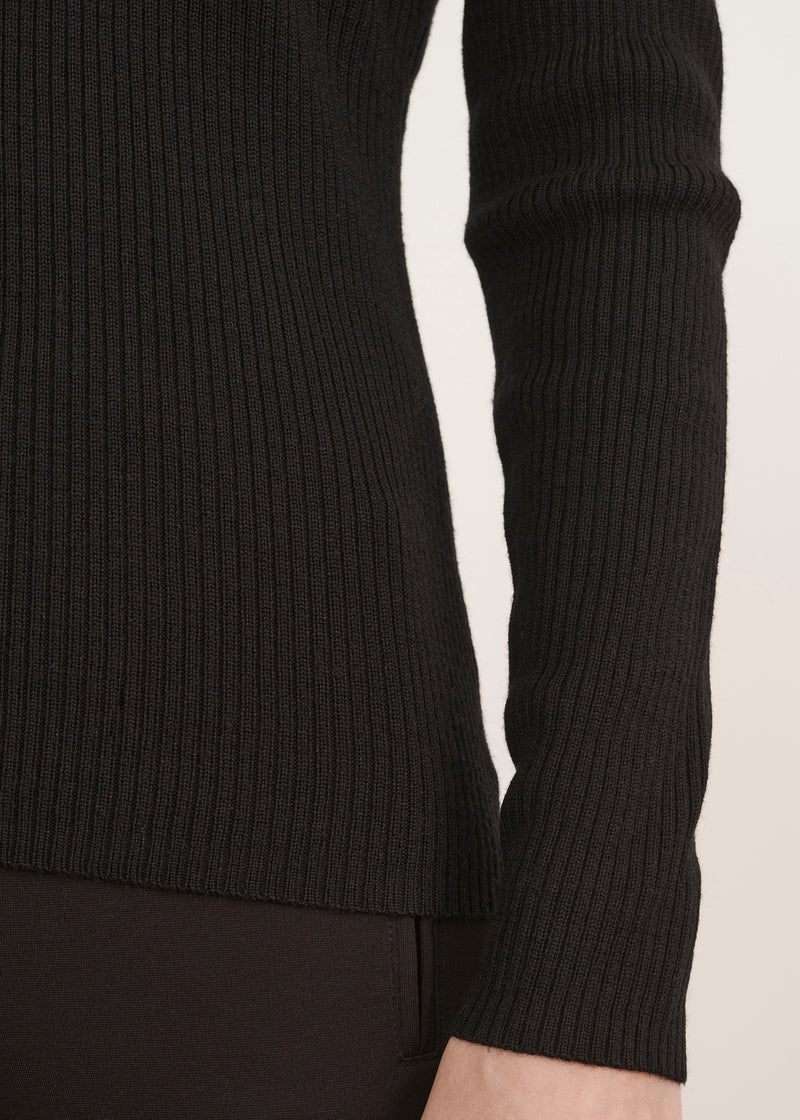 FITTED SCOOP SWEATER - PATRICK ASSARAF