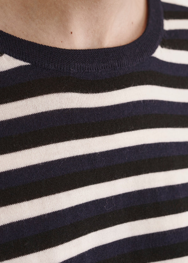 SUPERFINE STRIPE SWEATER | PATRICK ASSARAF | Luxury Fashion.
