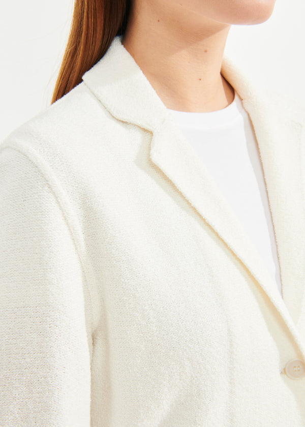 COTTON KNIT BLAZER | PATRICK ASSARAF | Luxury Fashion.
