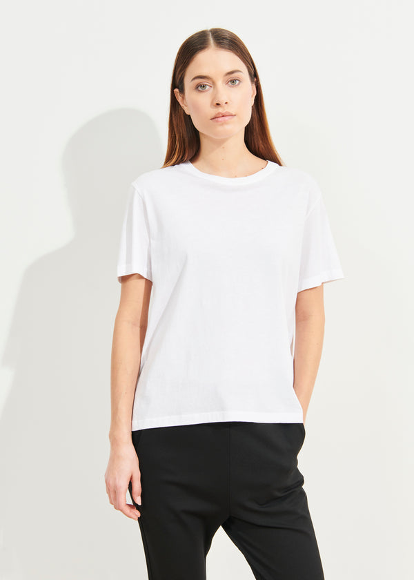 LIGHTWEIGHT PIMA COTTON BOYFRIEND T-SHIRT | PATRICK ASSARAF | Luxury Fashion.