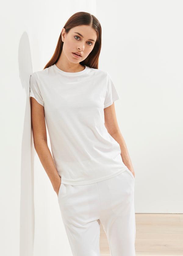 PIMA COTTON STRETCH SLIM T-SHIRT | PATRICK ASSARAF | Luxury Fashion.