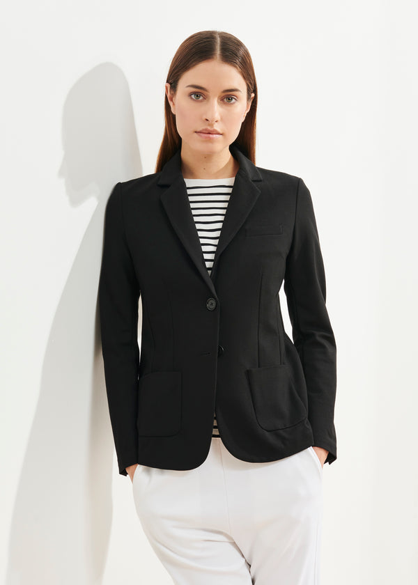 STRETCH SINGLE BREASTED BLAZER | PATRICK ASSARAF | Luxury Fashion.