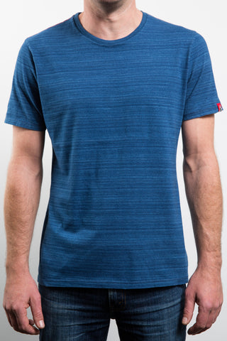 PLAIN INDIGO TEE - WASHED BACK