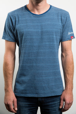 REBEL STRIPE TEE - WASHED BACK