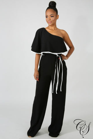 Airlia One Shoulder Ruffle Jumpsuit