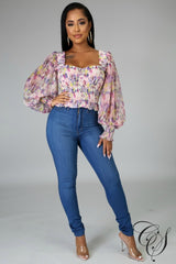 Aitana Floral Energy Top, Top - Designs By Cece Symoné